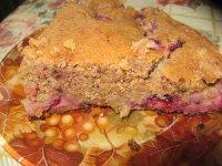 Сливово-гречневый пирог