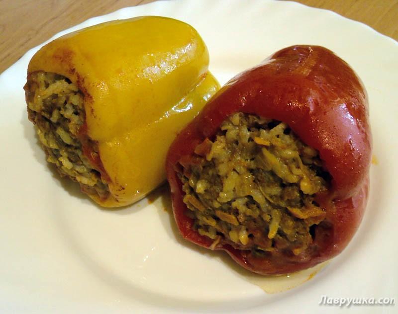 Рецепт фаршированный перец овощами с фото